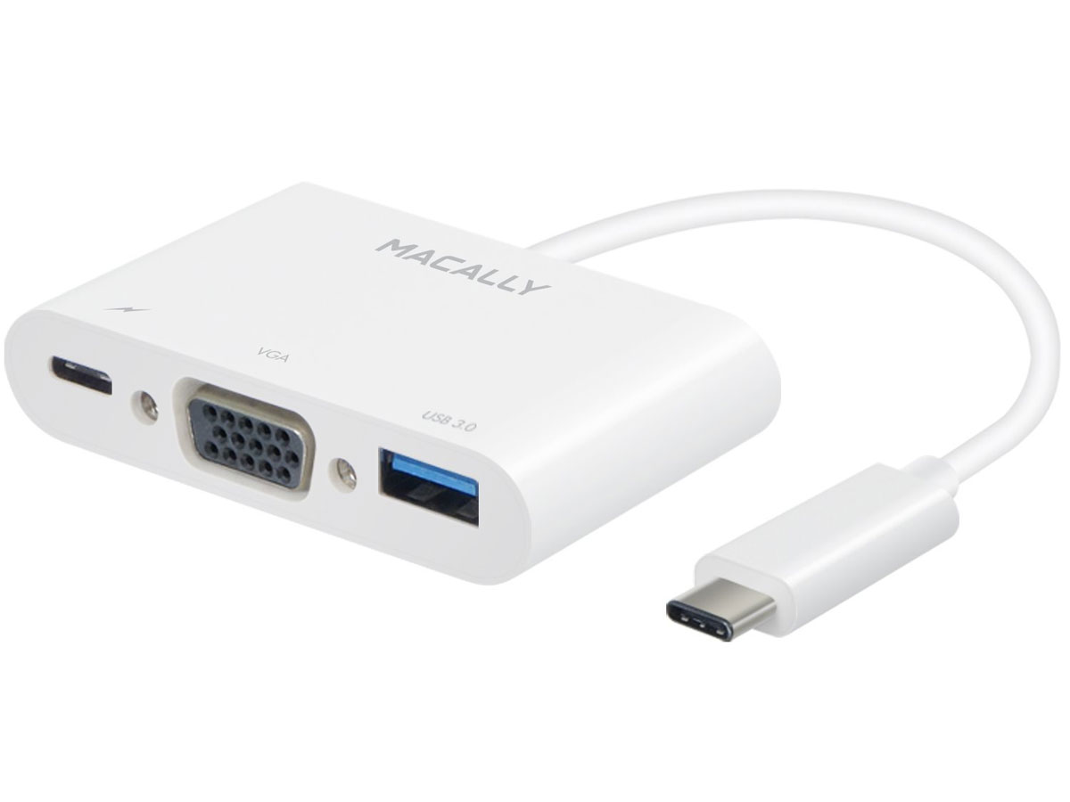 MacAlly USB-C Multiport VGA / USB Passthrough Adapter Wit