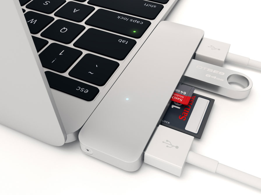 Satechi USB-C 3-in-1 Combo Hub - USB-A en Kaartlezer