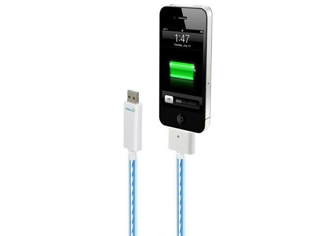 Dexim Visible Green Dockconnector USB kabel voor iPod, iPhone & iPad