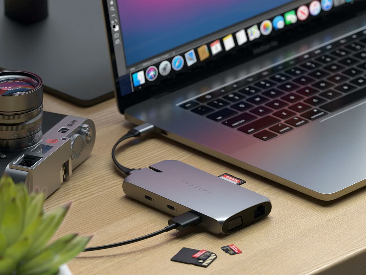 Satechi USB-C On-The-Go Multi-Port Adapter met 2 Kabels