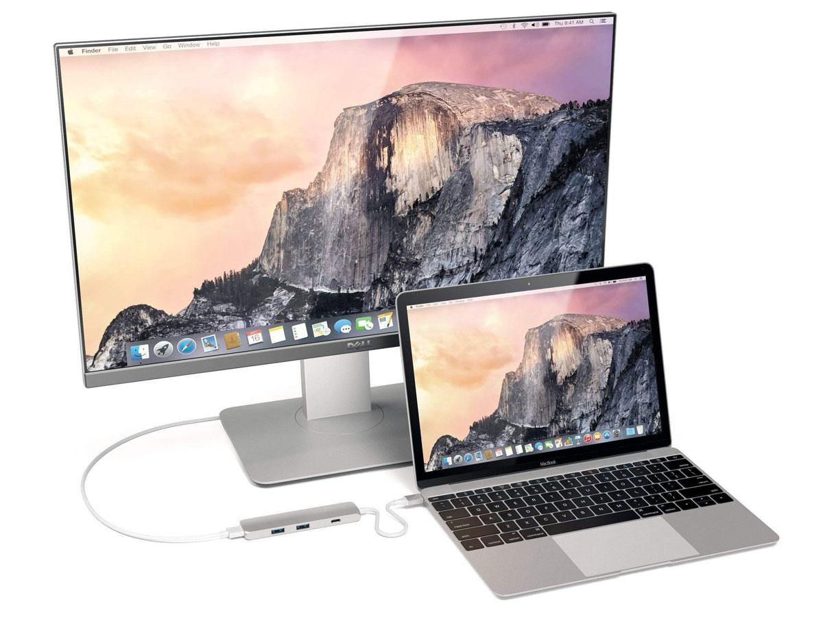 Satechi USB-C Slim Multi-Port Adapter 4K - Zilver (HDMI & USB 3.0)