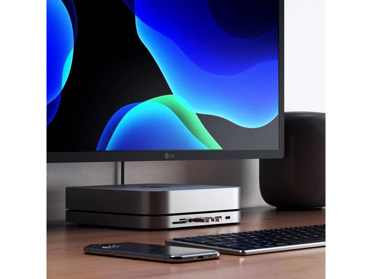 Satechi Aluminium Mac Mini Stand & USB-C Hub - Space Grey