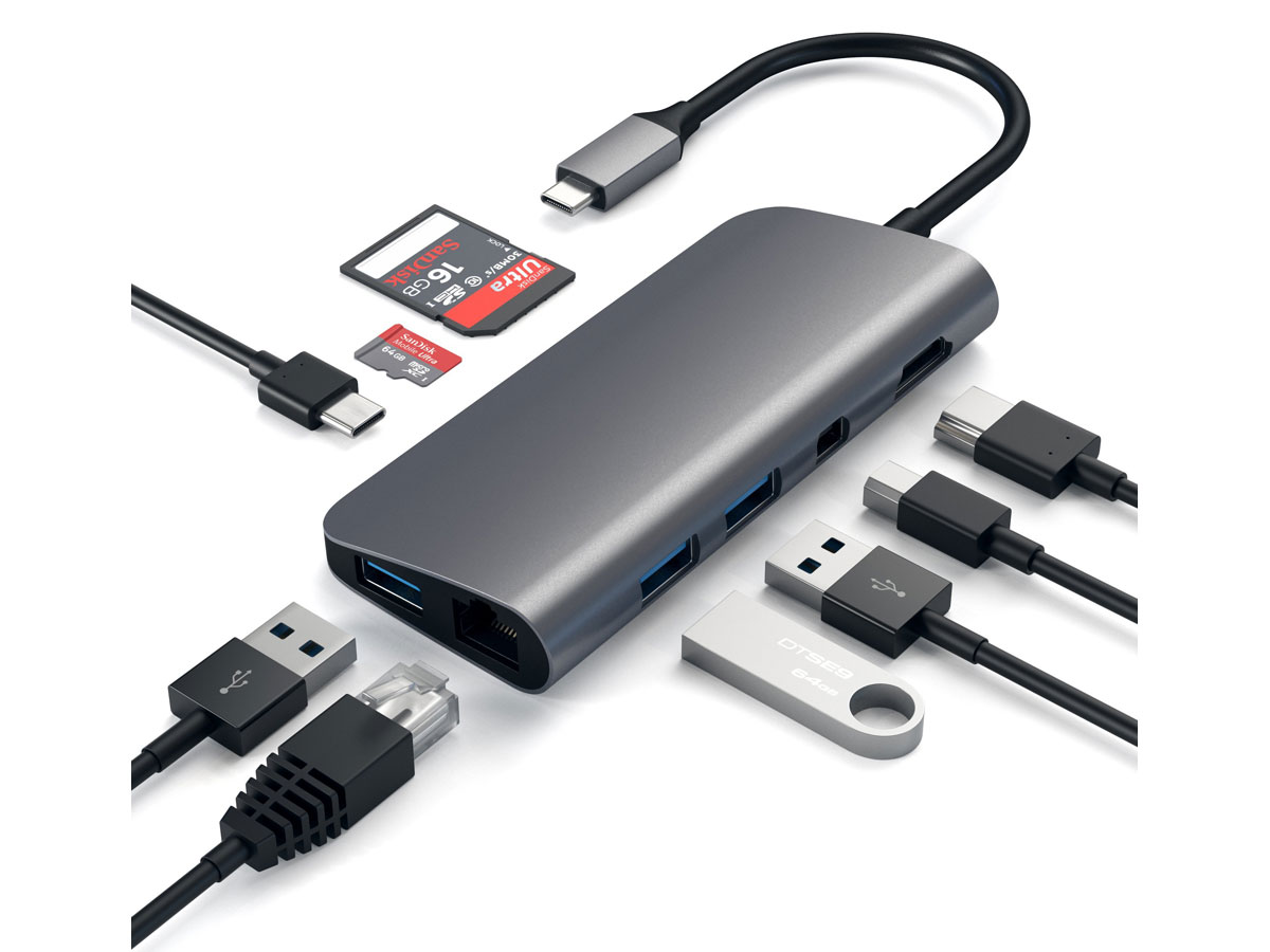 Satechi USB-C Multimedia Hub - Displayport, HDMI & meer