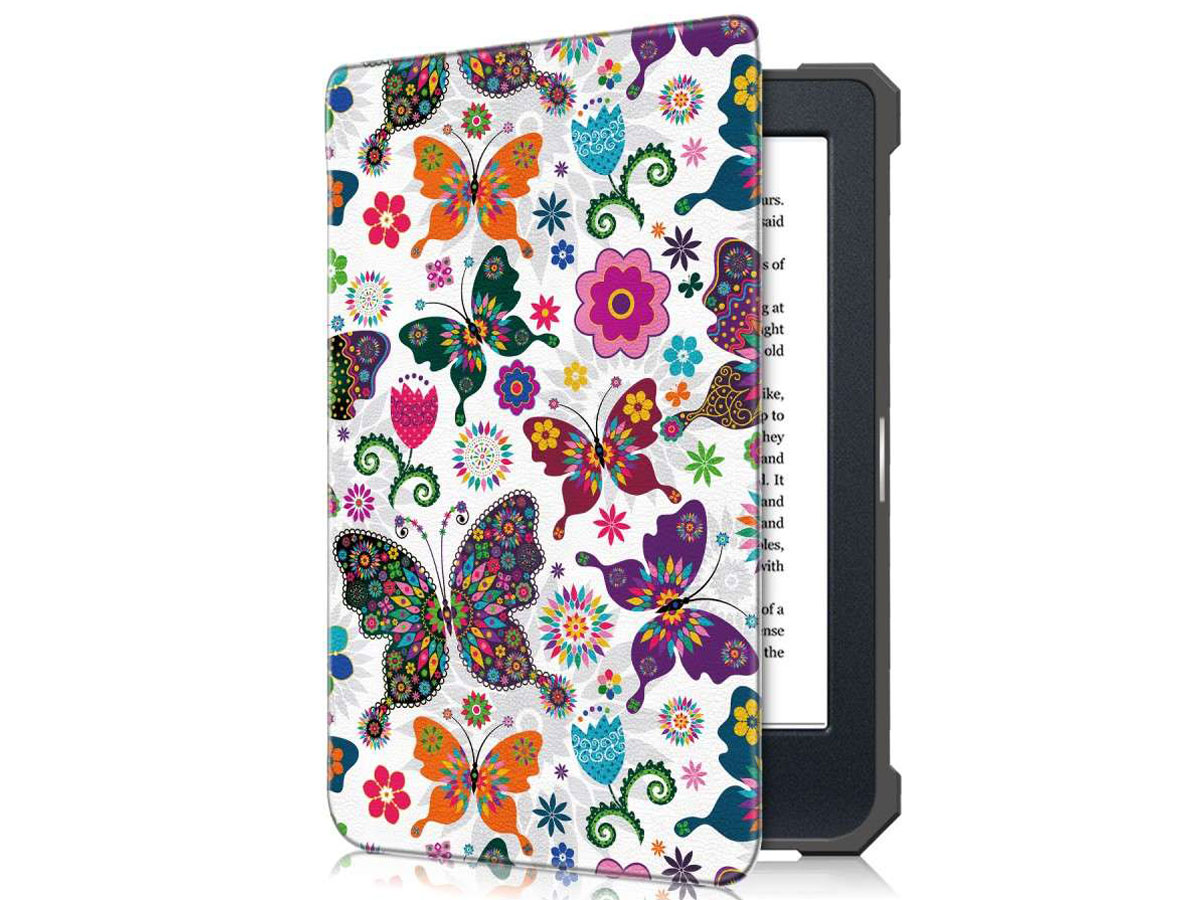 Just in Case Smart Cover Butterflies - Kobo Nia Hoesje Vlinder print