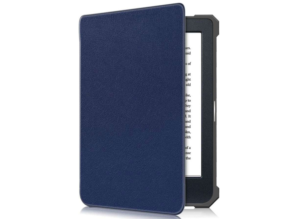 Just in Case Smart Cover Donkerblauw - Kobo Nia Hoesje