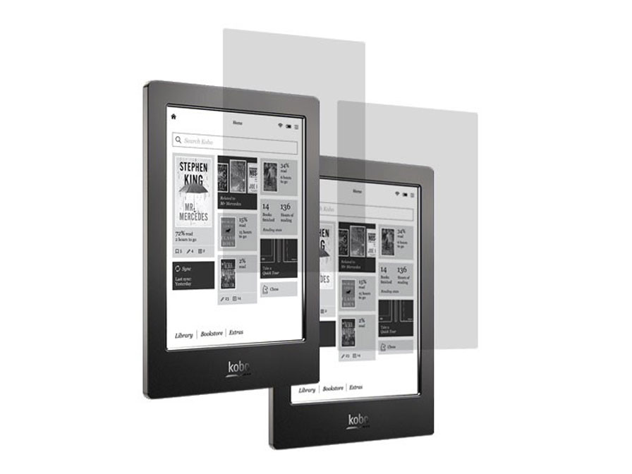 Clear Screenprotector voor Kobo Aura H2O (2-pack)