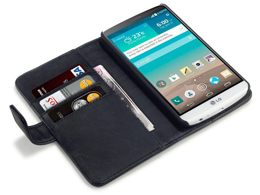 CaseBoutique Leather Wallet Case - Hoesje voor LG G3