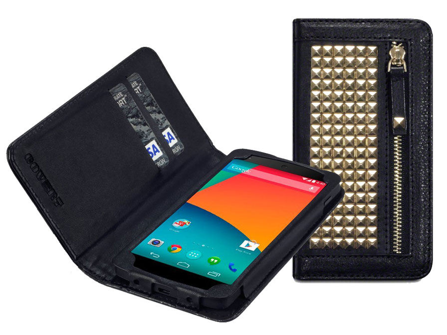covert roxie studded wallet case hoesje voor sony xperia
