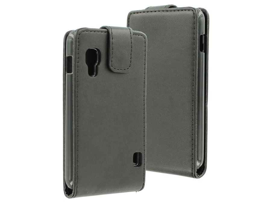 Business Leather Flip Case - Hoesje voor LG Optimus L5 II Dual