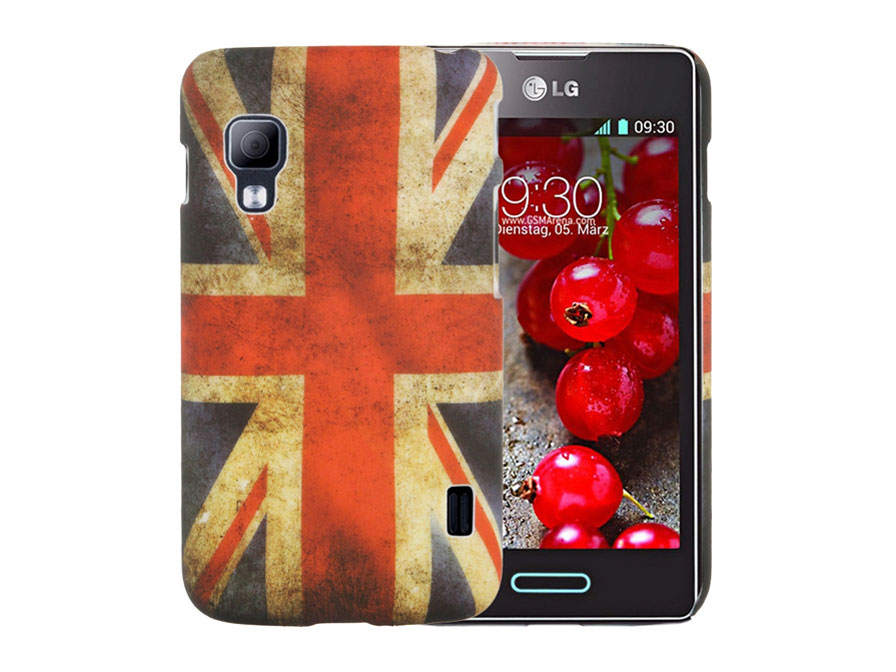 Great Brittain Vintage Flag Case voor LG Optimus L5 II Dual