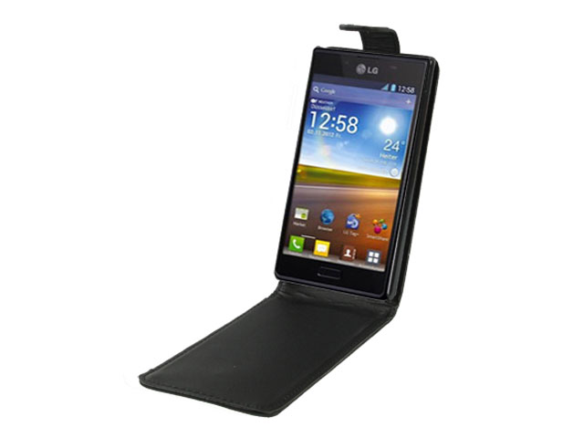 Business Leather Flip Case voor LG Optimus L7 (P700)