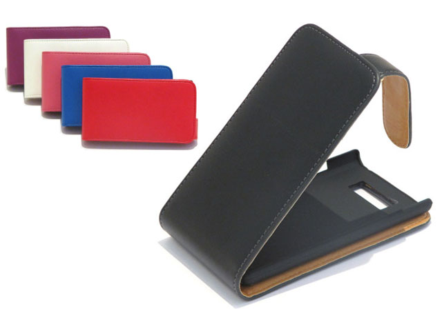 Classic Leather Flip Case voor LG Optimus L7 (P700)