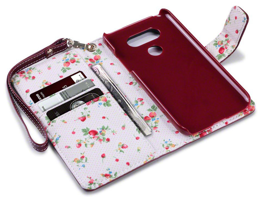 CaseBoutique Flower Wallet Case - LG G5 hoesje