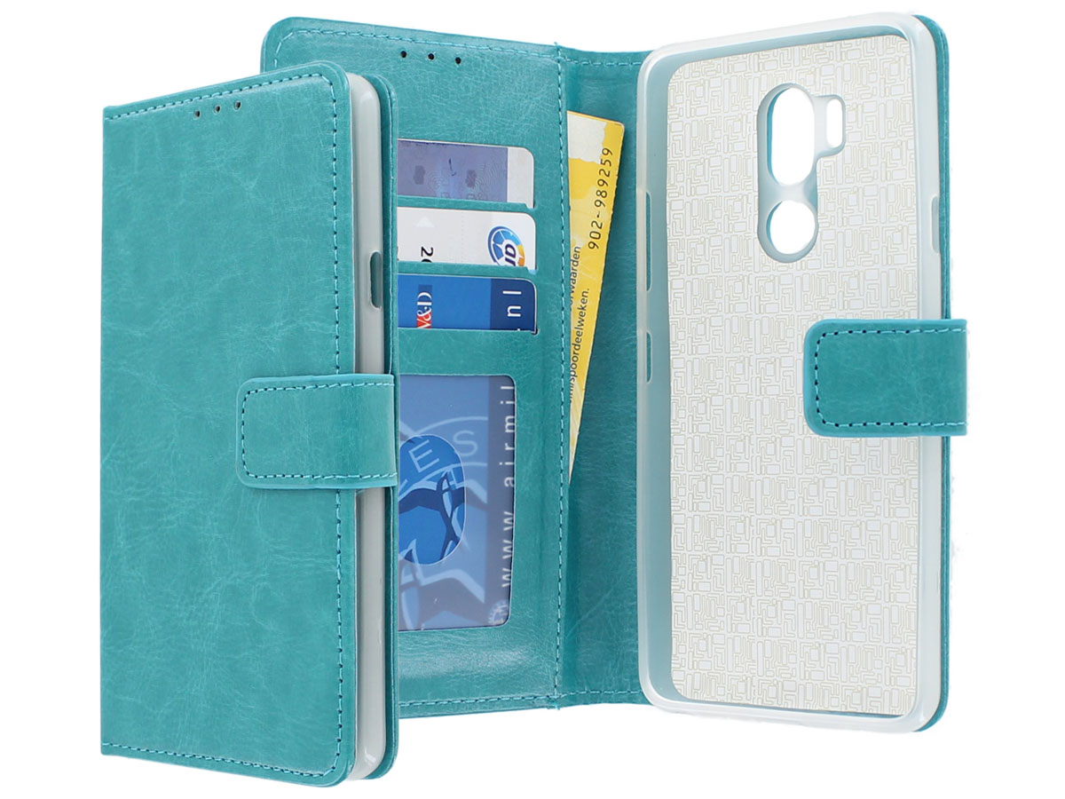 Bookcase Wallet Turquoise - LG G7 ThinQ hoesje