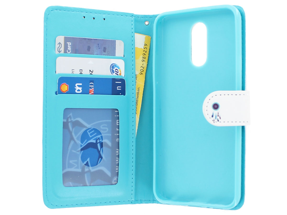 Dreamcatcher Bookcase Wallet - LG Q7 hoesje