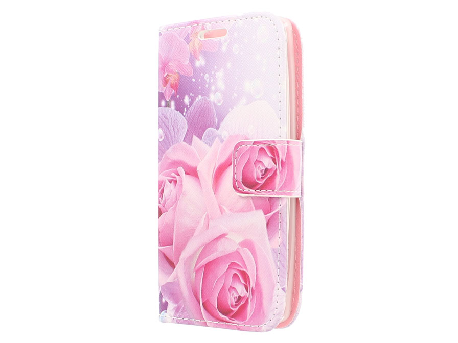 Rose Book Case - LG Spirit hoesje