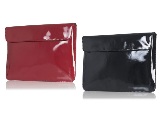 Knomo Patent Leather Envelope - Leren Sleeve voor MacBook Air 13 inch