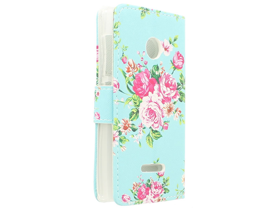 Flower Book Case - Microsoft Lumia 435 hoesje