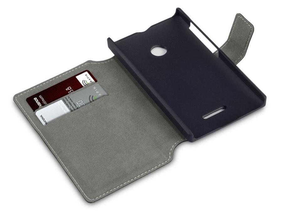 Covert UltraSlim Book Case - Hoesje voor Microsoft Lumia 532 Zwart