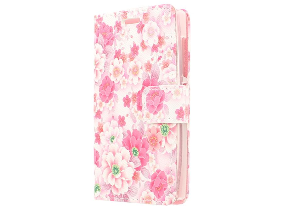 Floral Book Case Hoesje voor Microsoft Lumia 532