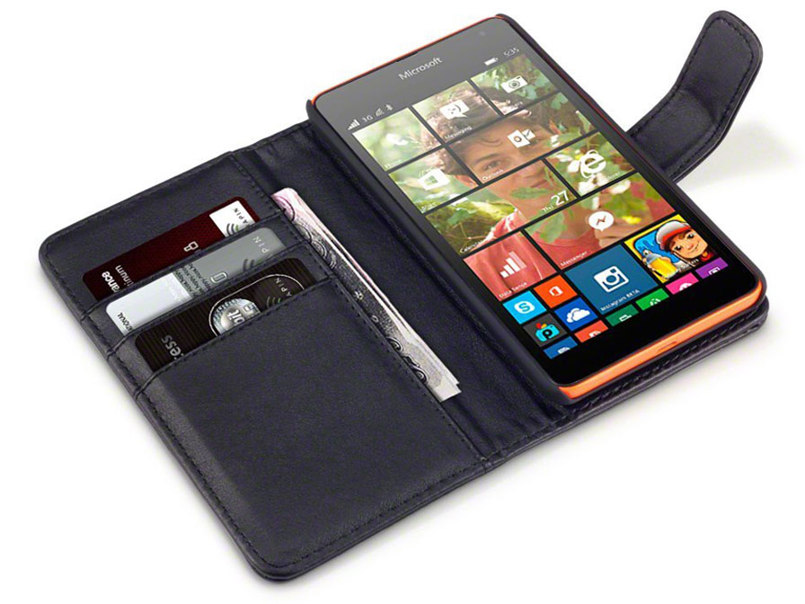 CaseBoutique Leather Wallet Case - Hoesje voor Microsoft Lumia 535