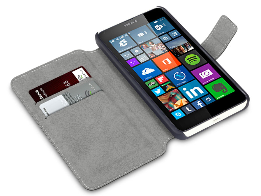 Covert UltraSlim Book Case - Hoesje voor Microsoft Lumia 640
