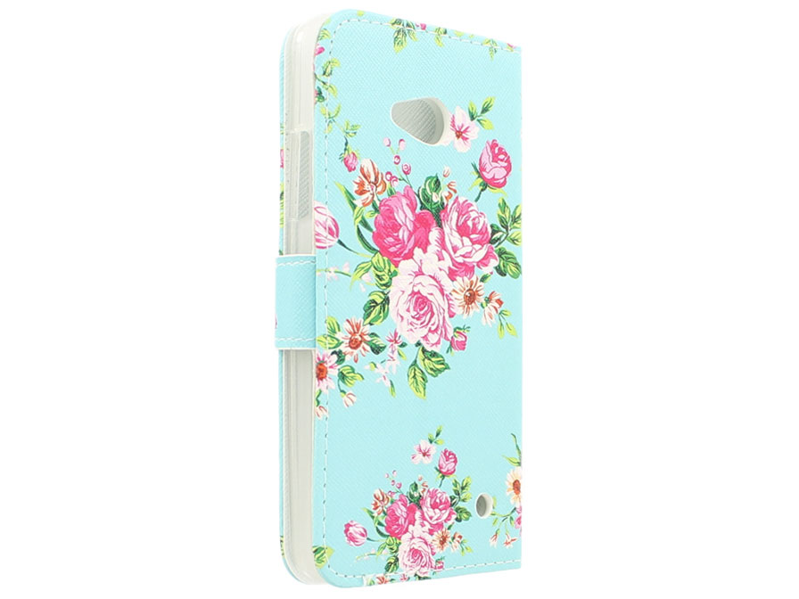 Flower Book Case - Microsoft Lumia 640 hoesje