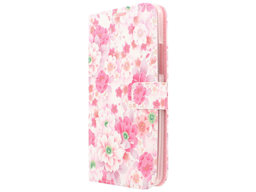 Floral Book Case Hoesje voor Microsoft Lumia 640 XL