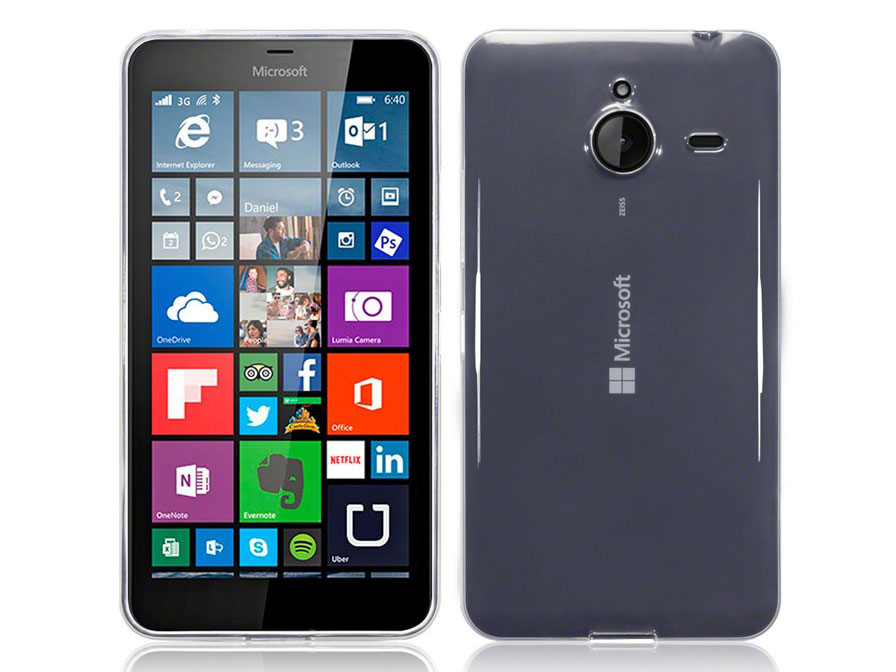 CaseBoutique Crystal Clear Case - Microsoft Lumia 640 XL Hoesje