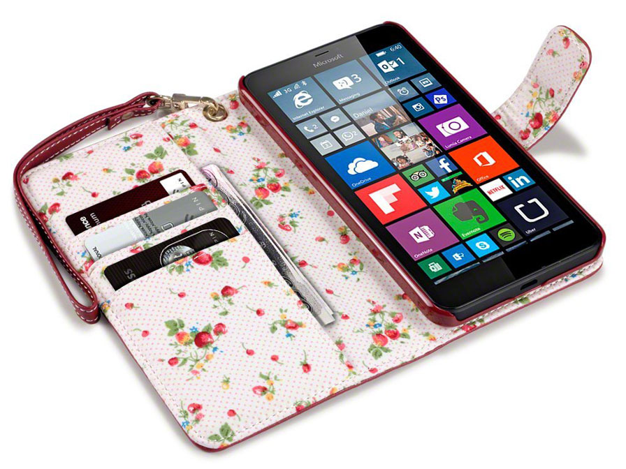 CaseBoutique Flower Wallet Case - Microsoft Lumia 640 XL hoesje