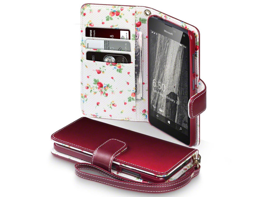 CaseBoutique Flower Book Case - Microsoft Lumia 650 hoesje