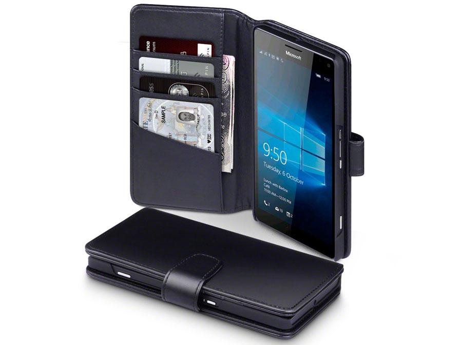 CaseBoutique Leren Bookcase - Microsoft Lumia 950 XL Hoesje