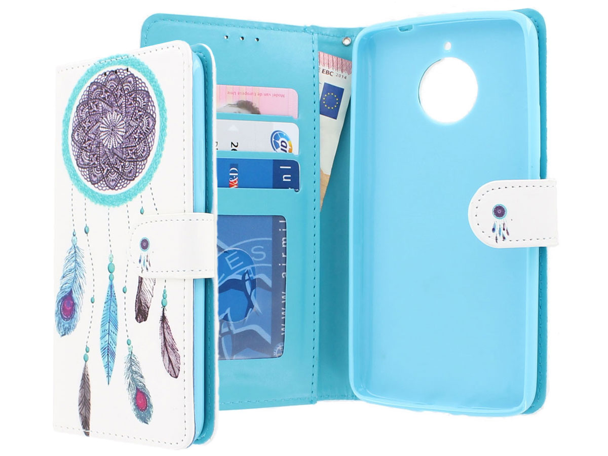 Dreamcatcher Bookcase - Motorola Moto E4 Plus hoesje