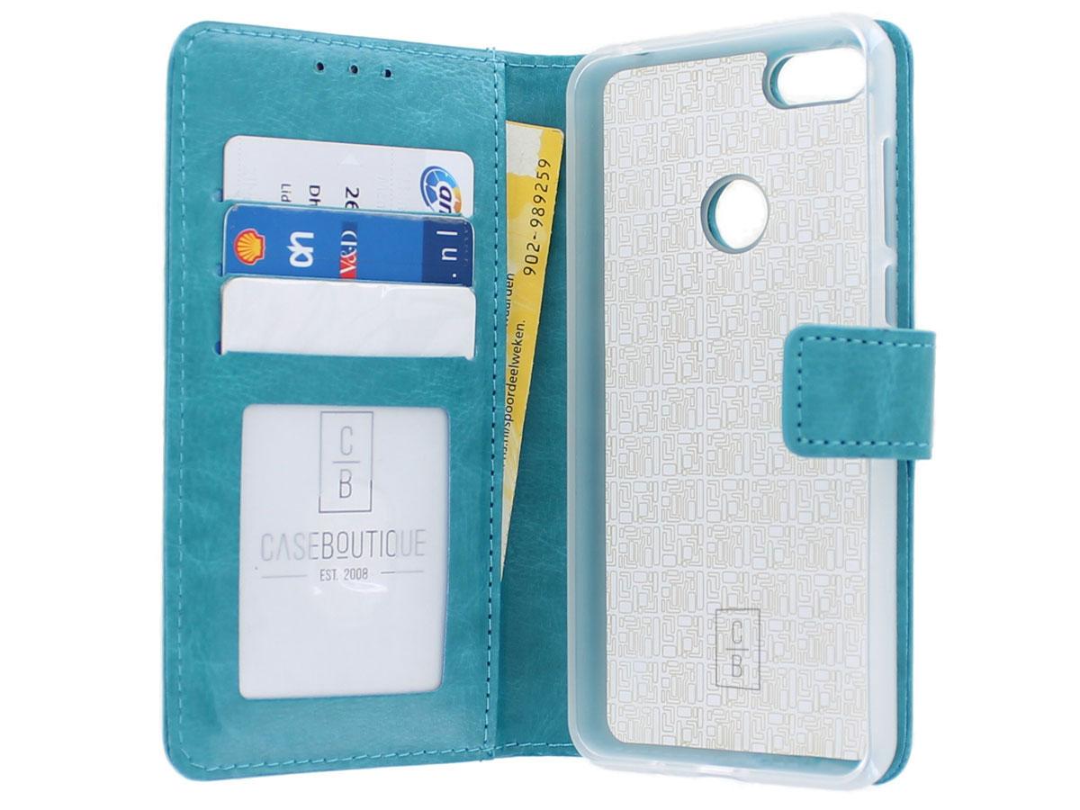 Bookcase Mapje Turquoise - Motorola Moto E6 Play hoesje