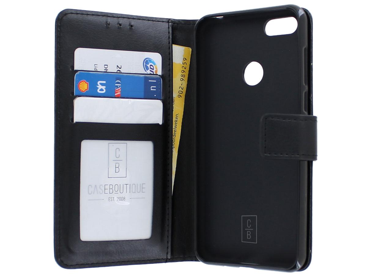 Bookcase Mapje Zwart - Motorola Moto E6 Play hoesje