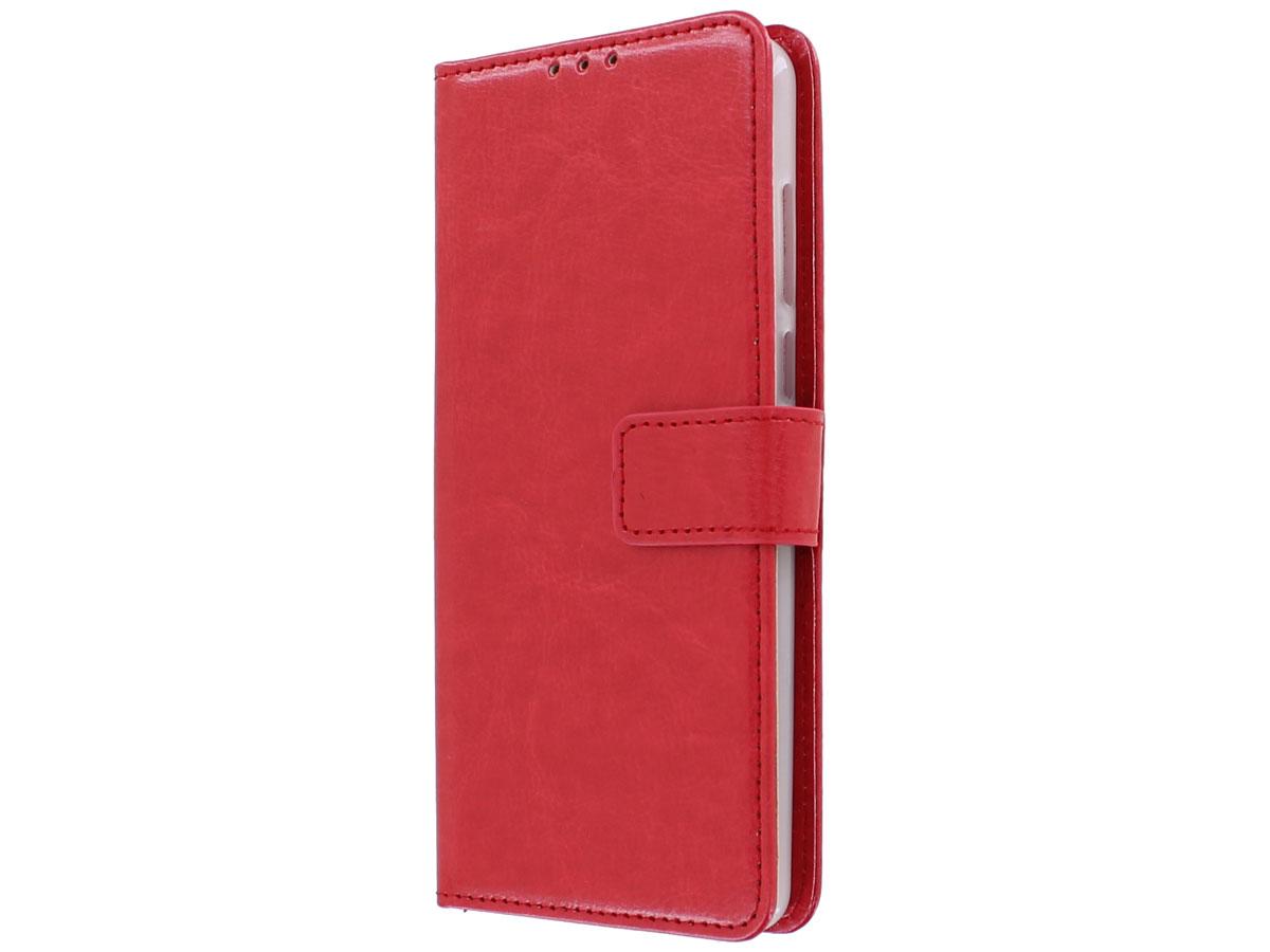 Book Case Mapje Rood - Motorola Moto E6 Plus hoesje