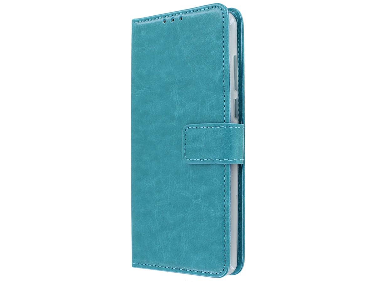 Book Case Mapje Turquoise - Motorola Moto E6 Plus hoesje
