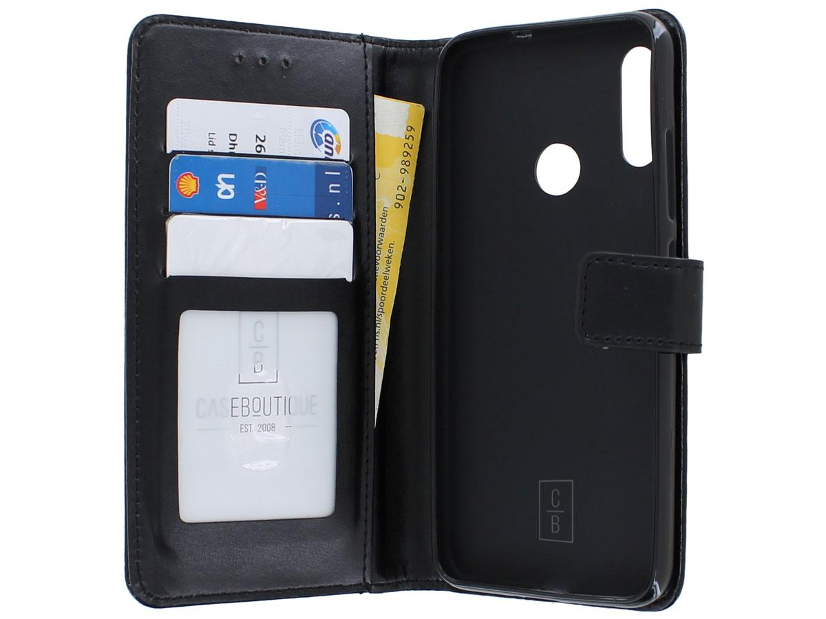 Book Case Mapje Zwart - Motorola Moto E6 Plus hoesje