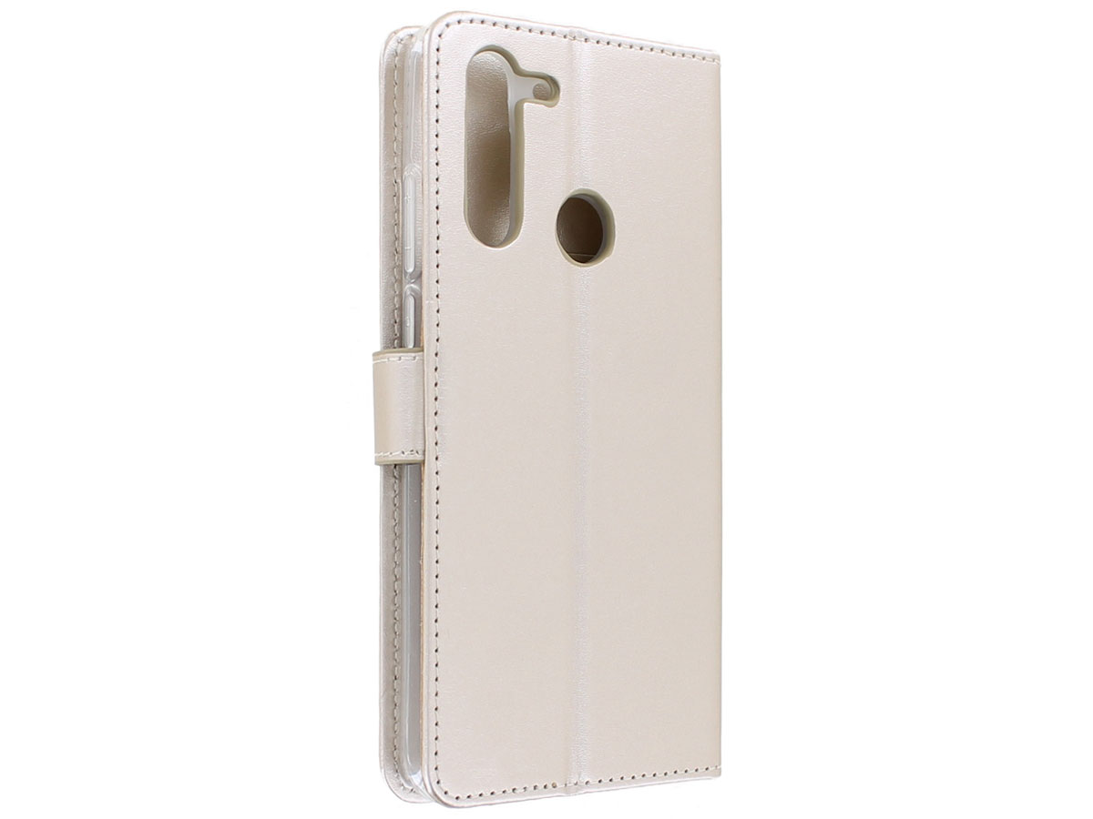 Bookcase Mapje Goud - Motorola Moto G Pro hoesje