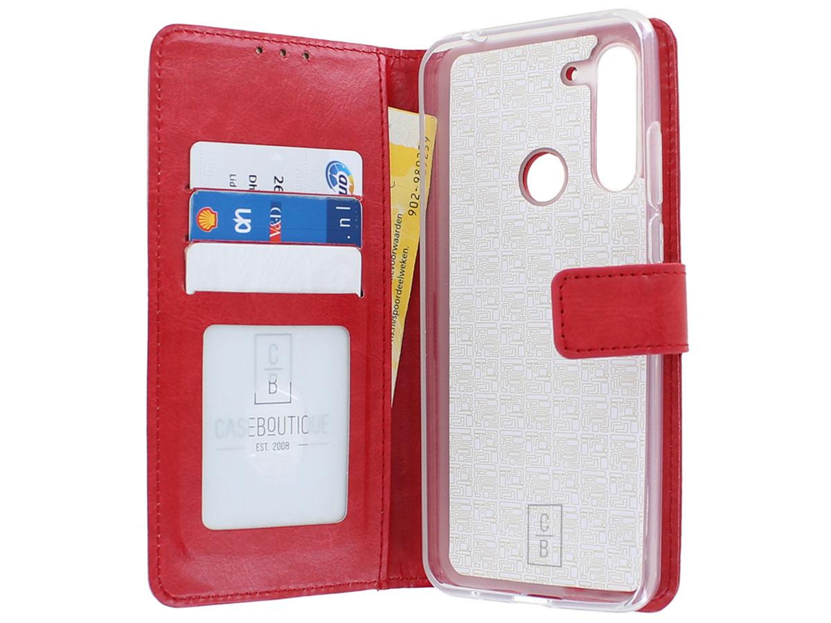 Bookcase Mapje Rood - Motorola Moto G Pro hoesje
