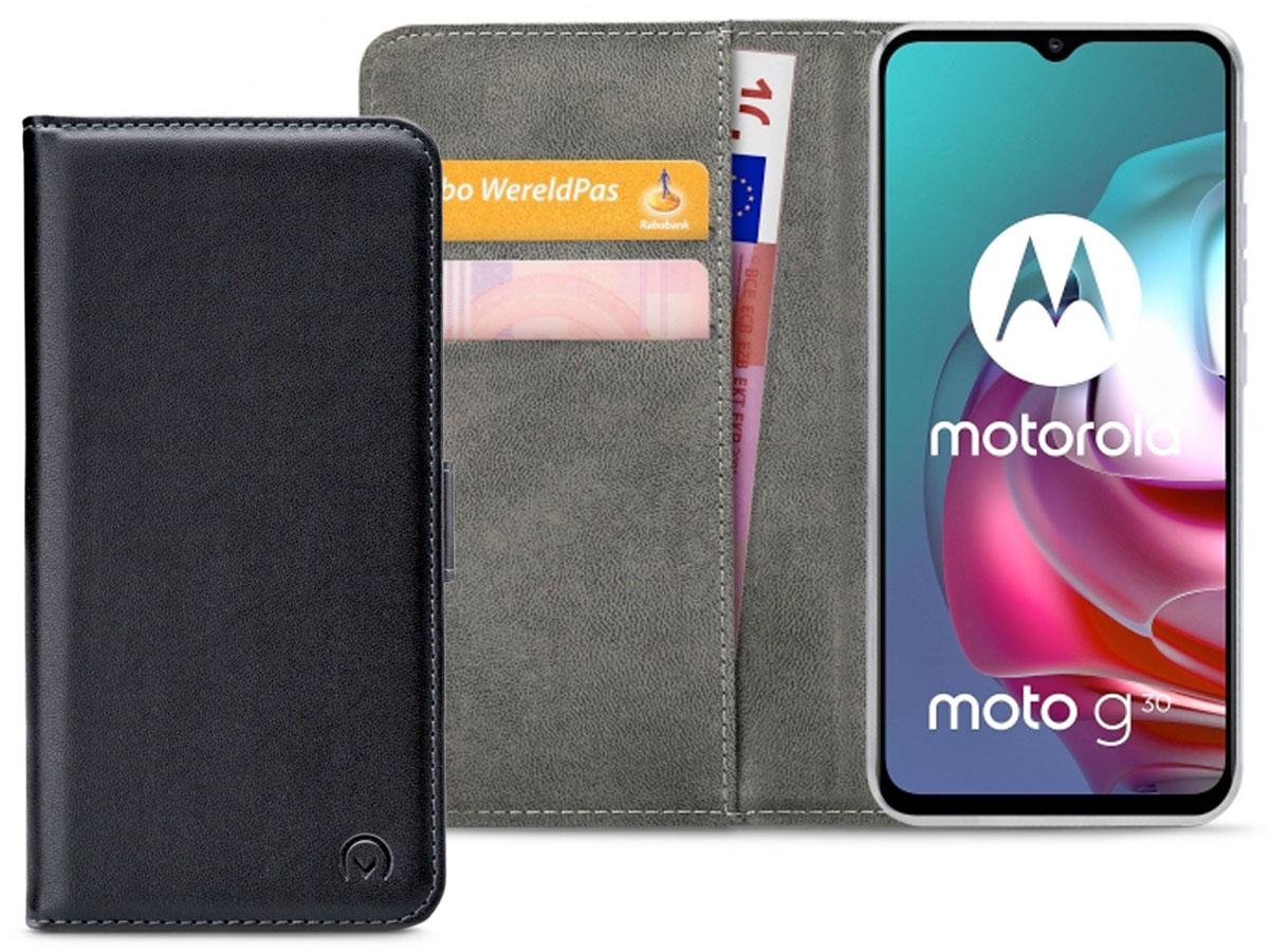 Mobilize Walletbook Zwart - Motorola Moto G10 hoesje