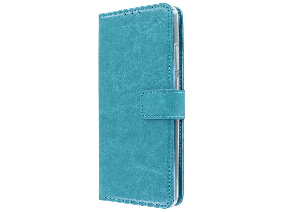 Bookcase Mapje Turquoise - Motorola Moto G8 Power hoesje