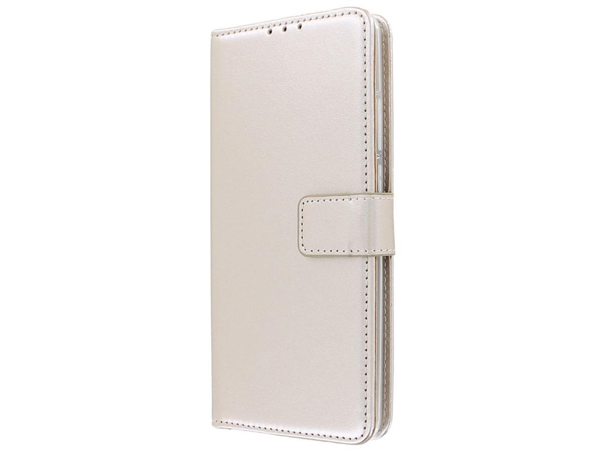 Bookcase Mapje Goud - Motorola Moto G8 Power Lite hoesje
