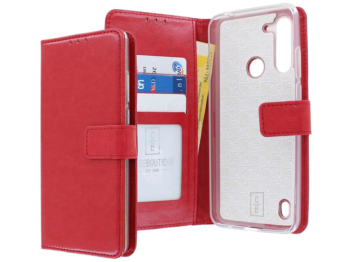 Bookcase Mapje Rood - Motorola Moto G8 Power Lite hoesje
