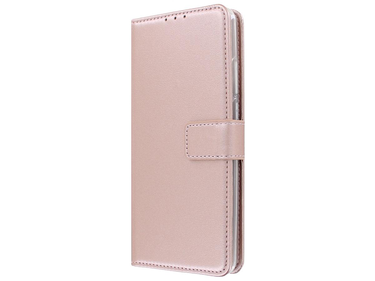 Bookcase Mapje Rosé Goud - Motorola Moto G8 Power Lite hoesje