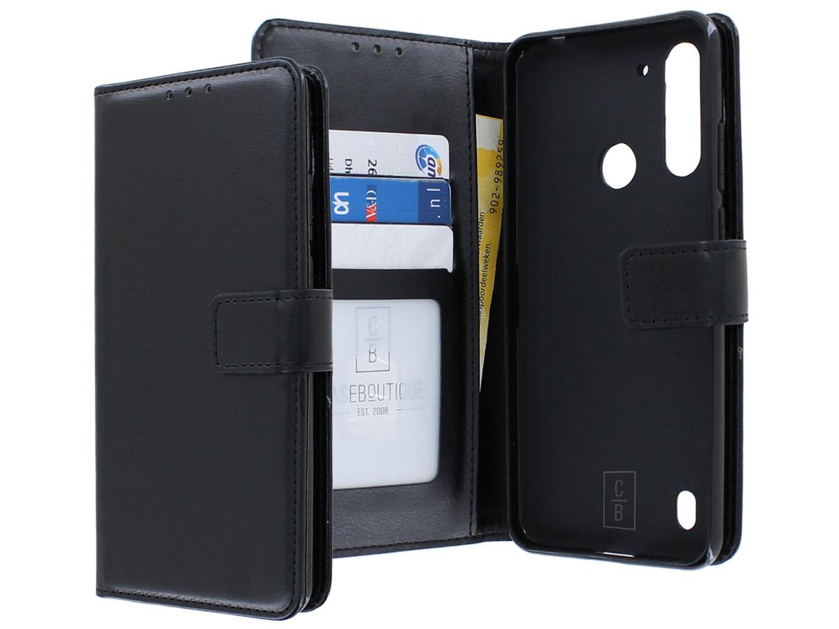 Bookcase Mapje Zwart - Motorola Moto G8 Power Lite hoesje
