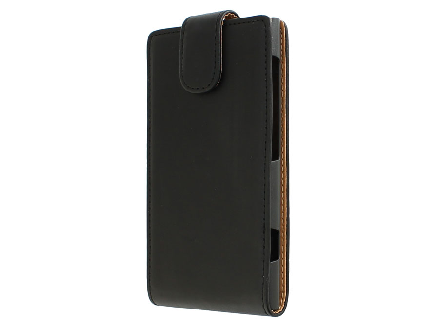 Classic Leather Flip Case - Nokia Lumia 1020 hoesje
