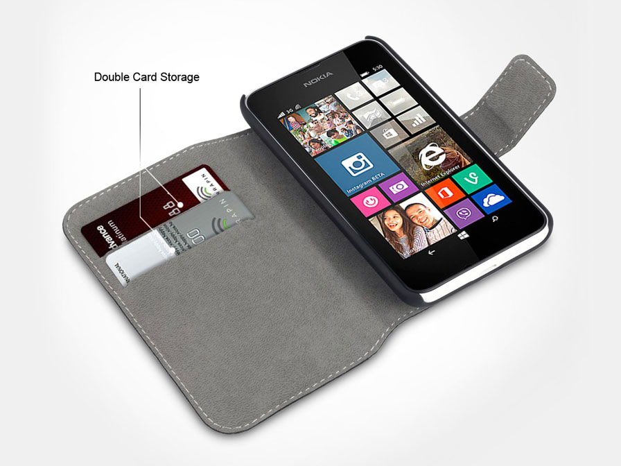 Covert UltraSlim Bookcase - Nokia Lumia 530 Hoesje
