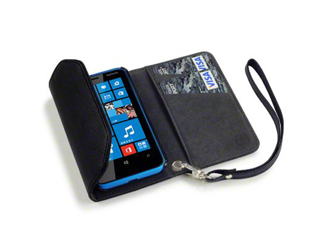 Covert Trifold Purse Wallet Case voor Nokia Lumia 620