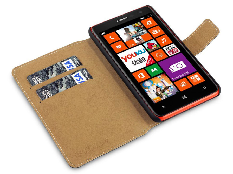 Covert UltraSlim Bookcase - Nokia Lumia 625 hoesje